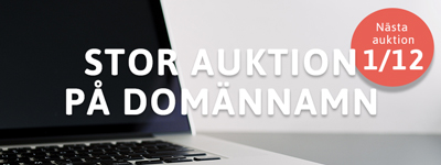 Nu släpps de bästa svenska domännamnen på auktion!